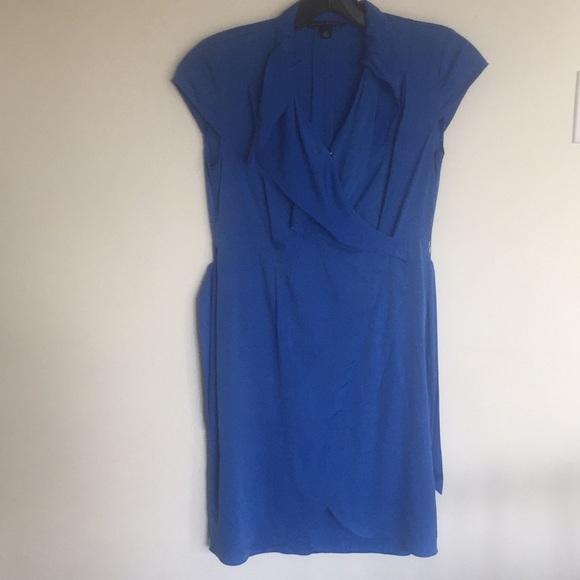 Banana Republic Dresses & Skirts - Banana Republic silk royal blue wrap dress size 4